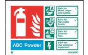 W6370D - ABC POWDER EXTINGUISHER IDENTIFICATION SIGN.